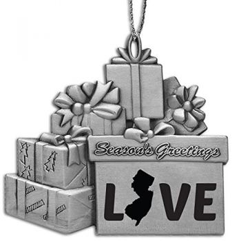 Pewter Gift Display Christmas Tree Ornament - New Jersey Love - New Jersey Love