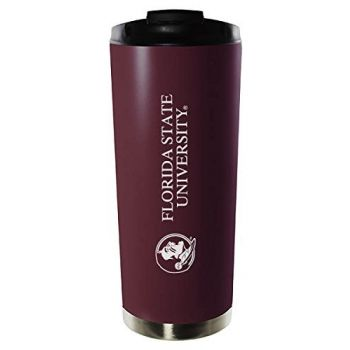 Florida State University-16oz. Stainless Steel Vacuum Insulated Travel Mug Tumbler-Burgundy