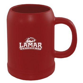 Lamar University-22 oz. Ceramic Stein Coffee Mug-Red