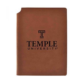 Temple University Velour Journal with Pen Holder|Carbon Etched|Officially Licensed Collegiate Journal|