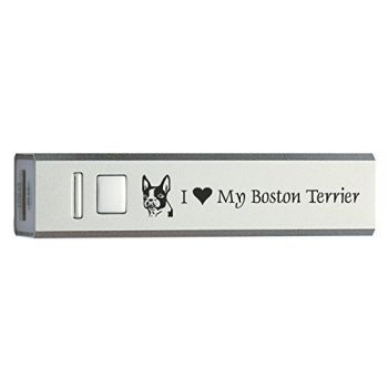 Quick Charge Portable Power Bank 2600 mAh  - I Love My Boston Terrier