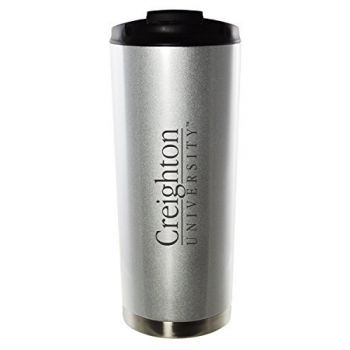 Creighton University-16oz. Stainless Steel Vacuum Insulated Travel Mug Tumbler-Silver