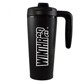 Winthrop University -16 oz. Travel Mug Tumbler with Handle-Black