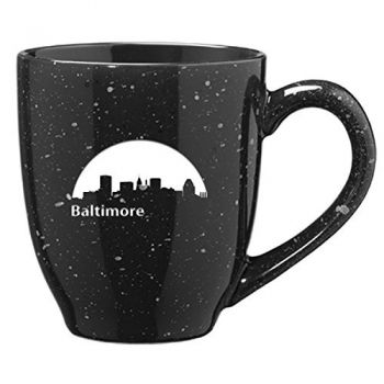 16 oz Ceramic Coffee Mug with Handle - Baltimore City Skyline