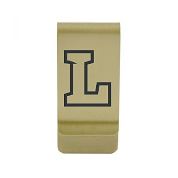 La Salle State University|Money Clip with Contemporary Metals Finish|Solid Brass|High Tension Clip to Securely Hold Cash, Cards and ID's|Silver