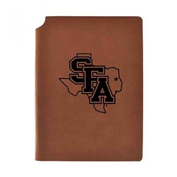 Stephen F. Austin State University Velour Journal with Pen Holder|Carbon Etched|Officially Licensed Collegiate Journal|