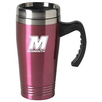 Monmouth University-16 oz. Stainless Steel Mug-Pink