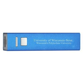 University of Wisconsin–Stout - Portable Cell Phone 2600 mAh Power Bank Charger - Blue