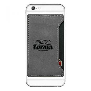 Loyola University Maryland-Cell Phone Card Holder-Grey