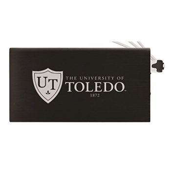 8000 mAh Portable Cell Phone Charger-University of Toledo -Black