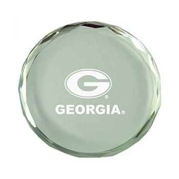 University of Georgia -Crystal Paper Weight