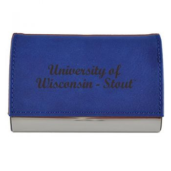Velour Business Cardholder-University of Wisconsin-Stout-Blue