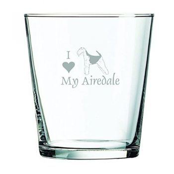 13 oz Cocktail Glass  - I Love My Airedale