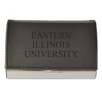 Velour Business Cardholder-Eastern Illinois University-Black