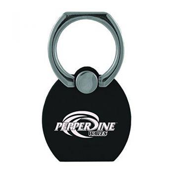 Pepperdine university|Multi-Functional Phone Stand Tech Ring|Black