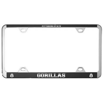 Pittsburg State University -Metal License Plate Frame-Black