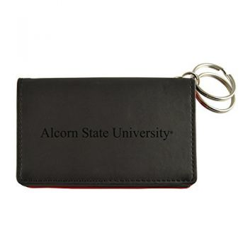 Velour ID Holder-Alcorn State University-Black