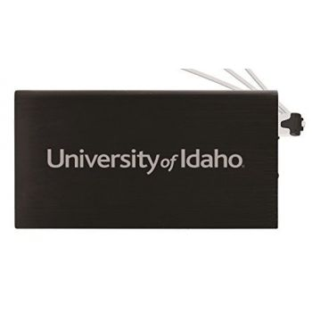 8000 mAh Portable Cell Phone Charger-University of Idaho -Black