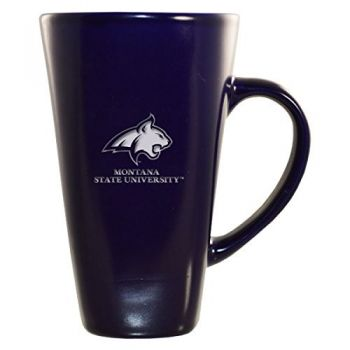 Montana State University -16 oz. Tall Ceramic Coffee Mug-Blue