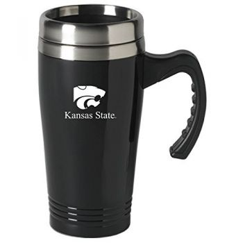 Kansas State University-16 oz. Stainless Steel Mug-Black