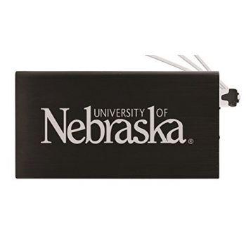 8000 mAh Portable Cell Phone Charger-University of Nebraska-Black