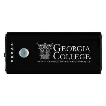 Georgia College-Portable Cell Phone 5200 mAh Power Bank Charger -Black