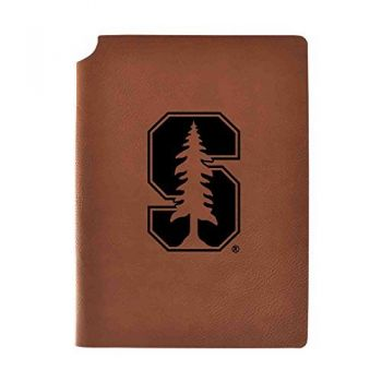 Stanford University Velour Journal with Pen Holder|Carbon Etched|Officially Licensed Collegiate Journal|