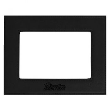 Drake University-Velour Picture Frame 4x6-Black