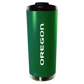University of Oregon-16oz. Stainless Steel Vacuum Insulated Travel Mug Tumbler-Green
