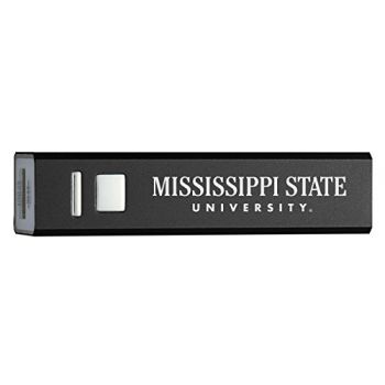 Mississippi State University - Portable Cell Phone 2600 mAh Power Bank Charger - Black