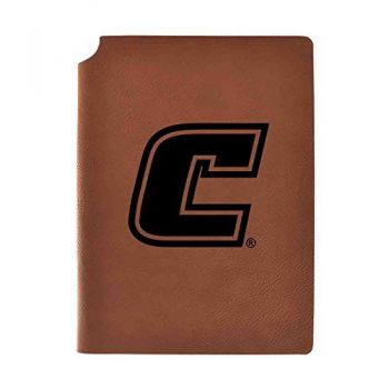 University of Tennessee at Chattanooga Velour Journal with Pen Holder|Carbon Etched|Officially Licensed Collegiate Journal|
