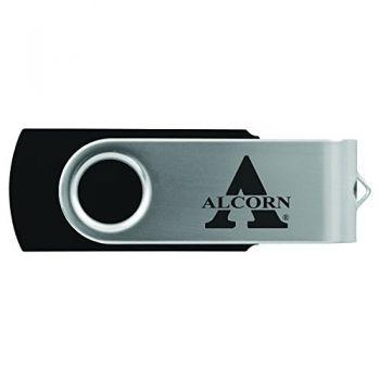 Alcorn State University -8GB 2.0 USB Flash Drive-Black