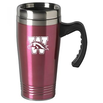 Western Michigan University-16 oz. Stainless Steel Mug-Pink