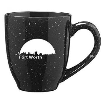 16 oz Ceramic Coffee Mug with Handle - Fort Worth City Skyline