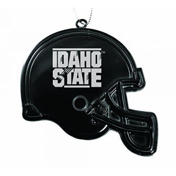 Idaho State University - Christmas Holiday Football Helmet Ornament - Black
