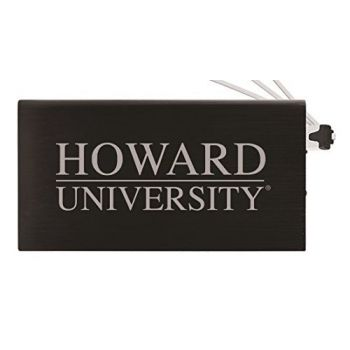 8000 mAh Portable Cell Phone Charger-Howard University -Black