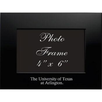 University of Texas at Arlington - 4x6 Brushed Metal Picture Frame - Black