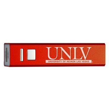 University of Nevada, Las Vegas - Portable Cell Phone 2600 mAh Power Bank Charger - Red