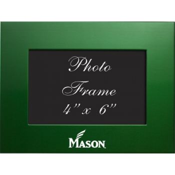 George Mason University - 4x6 Brushed Metal Picture Frame - Green