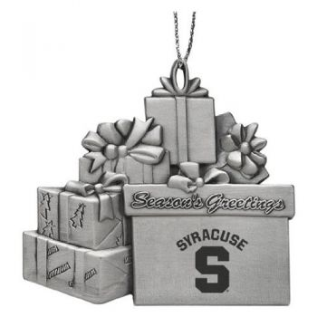 Syracuse University - Pewter Gift Package Ornament