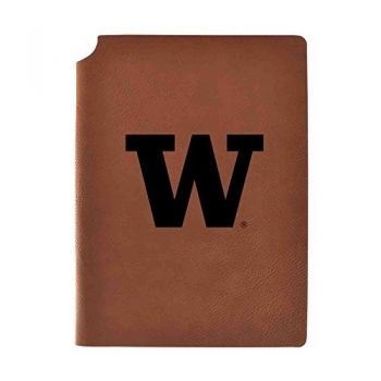 University of Washington Velour Journal with Pen Holder|Carbon Etched|Officially Licensed Collegiate Journal|