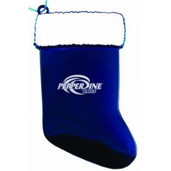 Pepperdine University - Christmas Holiday Stocking Ornament - Blue