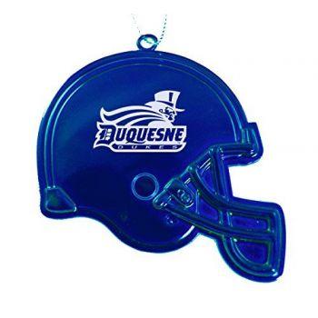 Duquesne University - Christmas Holiday Football Helmet Ornament - Blue