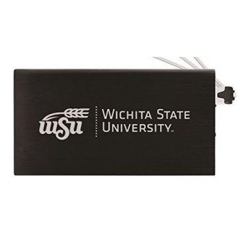 8000 mAh Portable Cell Phone Charger-Wichita State University -Black