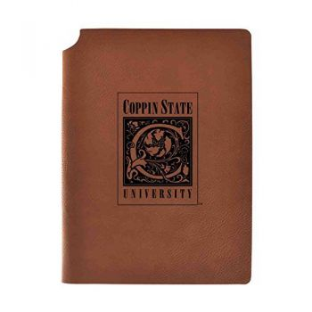 Coppin State University Velour Journal with Pen Holder|Carbon Etched|Officially Licensed Collegiate Journal|
