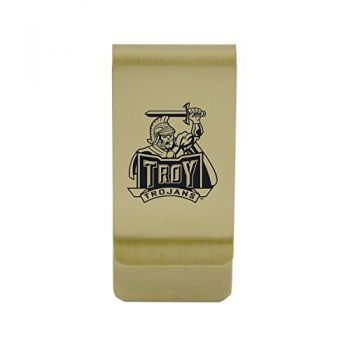 Towson University Money Clip with Contemporary Metals Finish Solid Brass High Tension Clip to Securely Hold Cash, Cards and ID's Silver