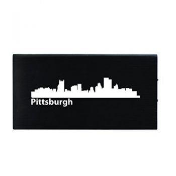 Quick Charge Portable Power Bank 8000 mAh - Pittsburgh City Skyline