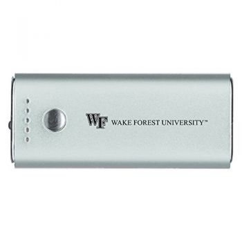 Wake Forest University -Portable Cell Phone 5200 mAh Power Bank Charger -Silver