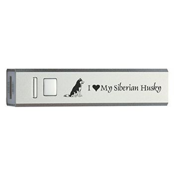 Quick Charge Portable Power Bank 2600 mAh  - I Love My Siberian Huskie