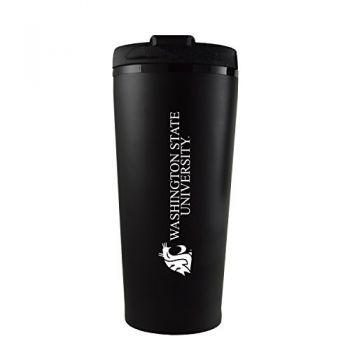 Washington State University -16 oz. Travel Mug Tumbler-Black